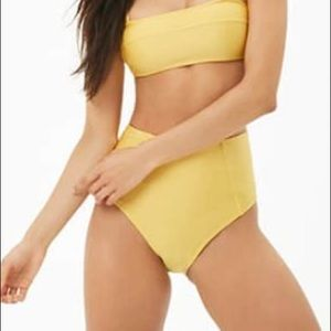 Forever 21 Swim - Yellow high waisted bikini bottoms